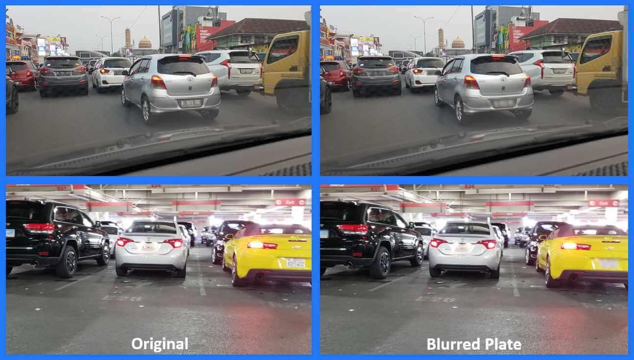 Blur multiple license plates