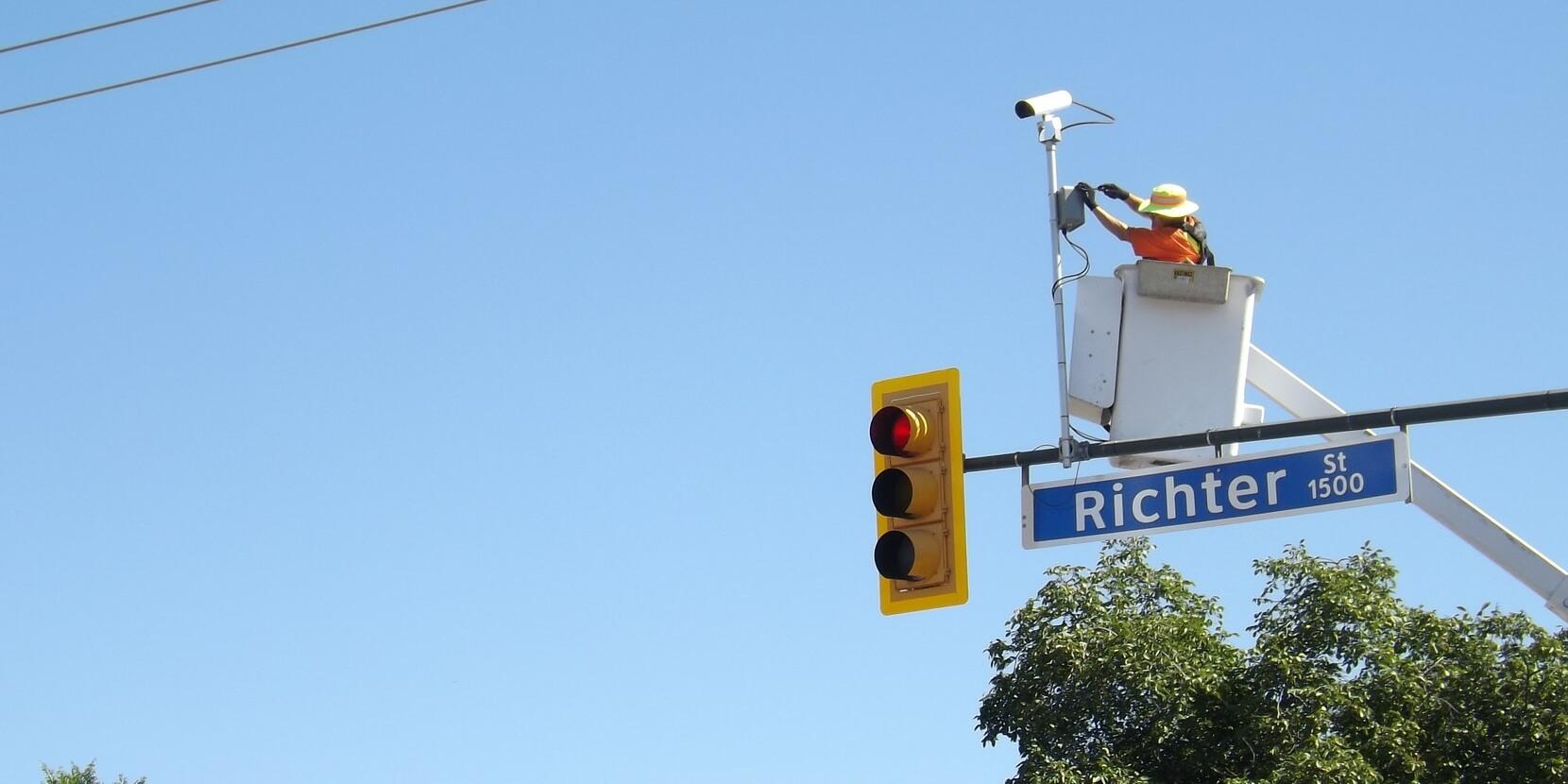 Automatic license plate recognition ALPR camera installation