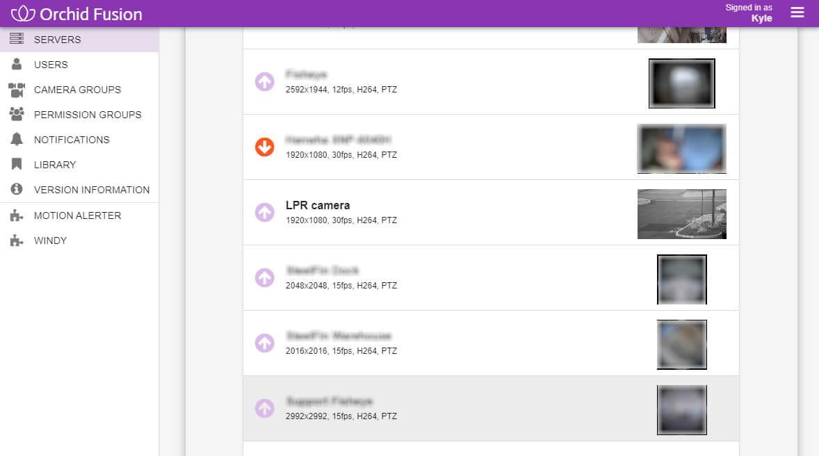 IPConfigure select camera for LPR