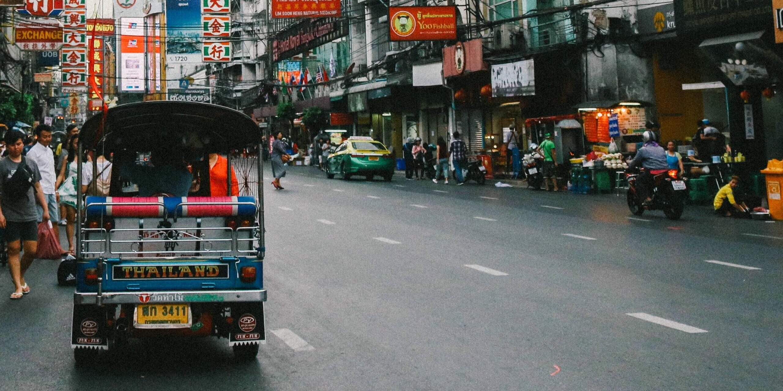 ALPR ANPR for Thailand Busy Street