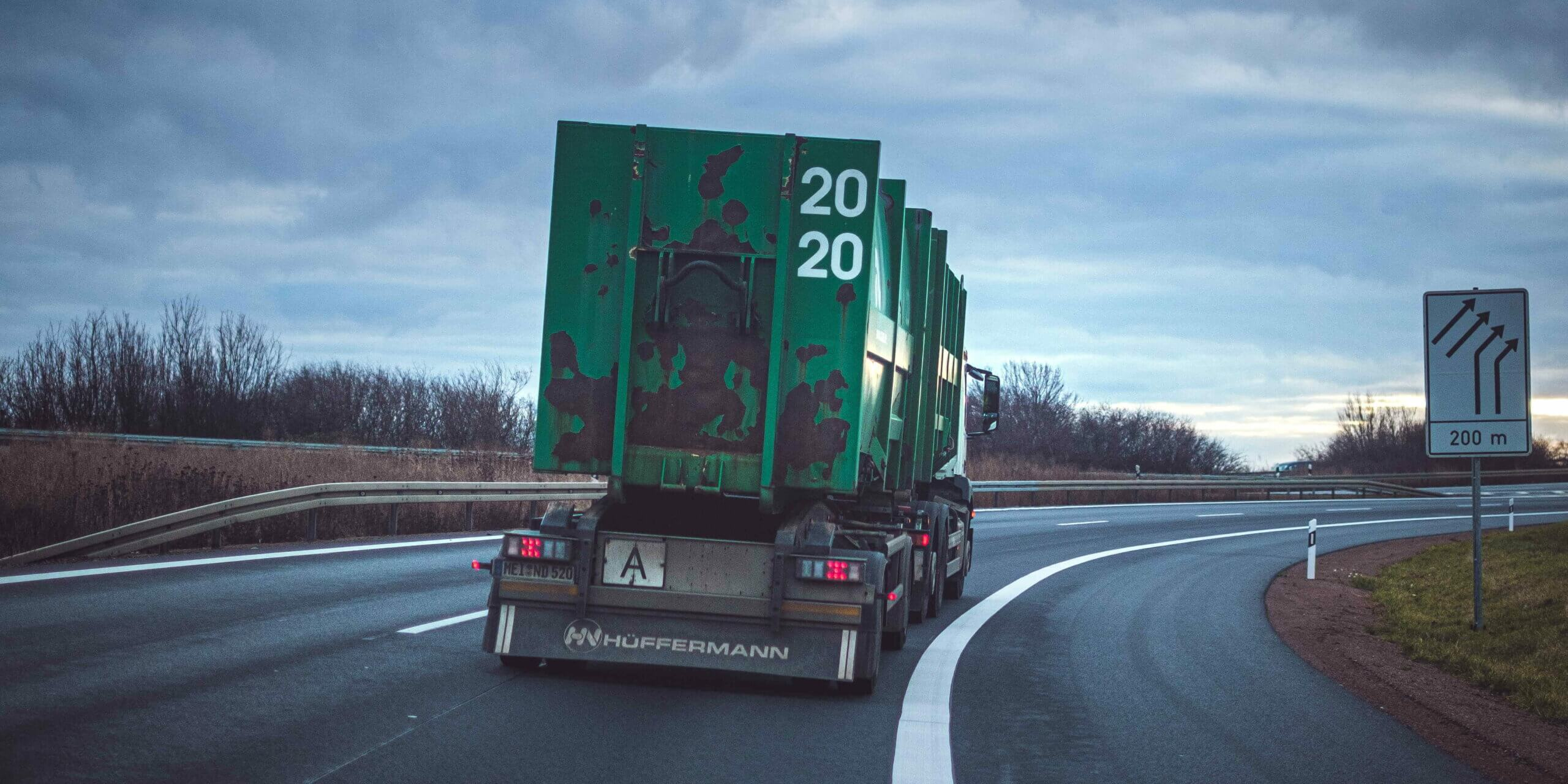 Germany ANPR truck number plate recognition on highway